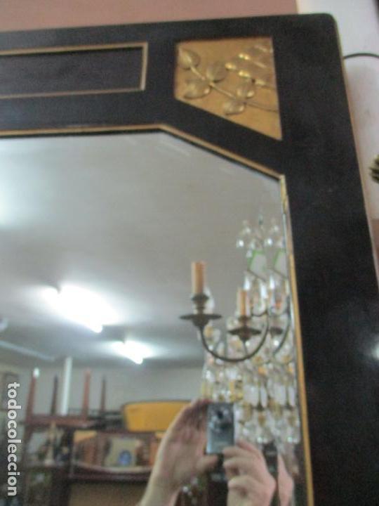 Antigüedades: Mueble Recibidor Modernista - Joan Busquets - Banco, Consola - Madera de Caoba Dorada - Gran Espejo - Foto 26 - 139784326