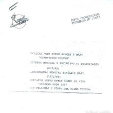 Discos de vinilo: DEPECHE MODE / EVERYTHING COUNTS (TESS PRESSING). Lote 139786686