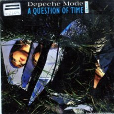 Discos de vinilo: DEPECHE MODE / A QUESTION OF TIME / BLACK CELEBRATION (SINGLE PROMO 1986). Lote 139787714