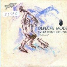 Discos de vinilo: DEPECHE MODE / TODO CUENTA / WORK HARD (SINGLE PROMO 1983). Lote 139788142