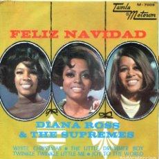 Discos de vinilo: DIANA ROSS & THE SUPREMES (FELIZ NAVIDAD) TEMAS EN PORTADA (EP 1988). Lote 139790650