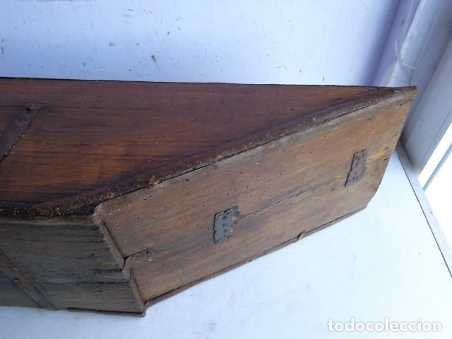 Antigüedades: MUY ANTIGUA MAS DE 100 AÑOS, RARA Y PRECIOSA HEMINA CUARTAL CON FORJA, COMPLETA Y BUEN ESTADO - Foto 5 - 139797510
