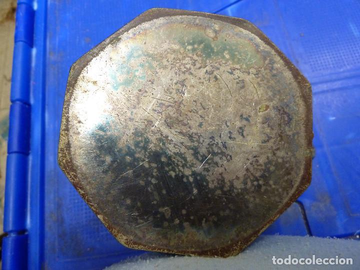 Antigüedades: ANTIGUO JUEGO DE TETERA Y AZUCARERO METALICOS CON FORMA OCTOGONAL - Foto 2 - 139811362