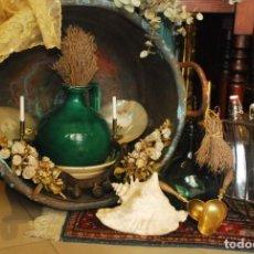 Antigüedades: ESPECTACULAR OLLA DE COBRE ANTIGUA. Lote 139817110