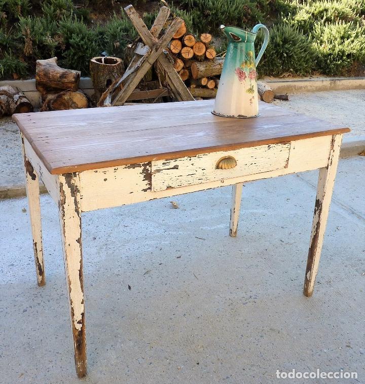 antigua mesa tocinera de cocina o trabajo en ma - Comprar Mesas ...