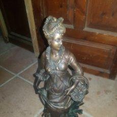 Antigüedades: ESCULTURA EN BRONCE DE MUJER. Lote 139857772