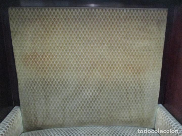 Antigüedades: Curioso Mueble Modernista - Joan Busquets - Sofá, Pareja de Vitrinas y Espejo - Madera de Caoba - Foto 37 - 139889778