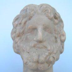 Antigüedades: BUSTO TERRACOTA. HOMBRE BARBADO. ¿ ROMANO ?. Lote 139891078