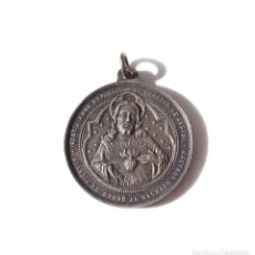 Antigüedades: MEDALLA GUARDIA DE HONOR AL SAGRADO CORAZÓN DE JESÚS - 3,2 CM DE DIÁMETRO. Lote 139891814