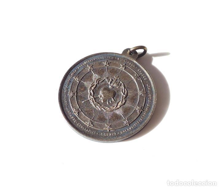 Antigüedades: MEDALLA GUARDIA DE HONOR AL SAGRADO CORAZÓN DE JESÚS - 3,2 CM DE DIÁMETRO - Foto 2 - 139891814