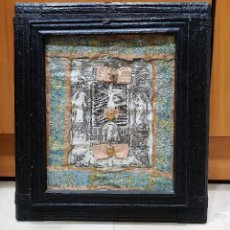 Antigüedades: CRISTO DE BURGOS QUE SE VENERA EN EL CONVENTO DE SAN AGUSTÍN. TRABAJO CONVENTUAL CON MARCO ANTIGUO.. Lote 139894046