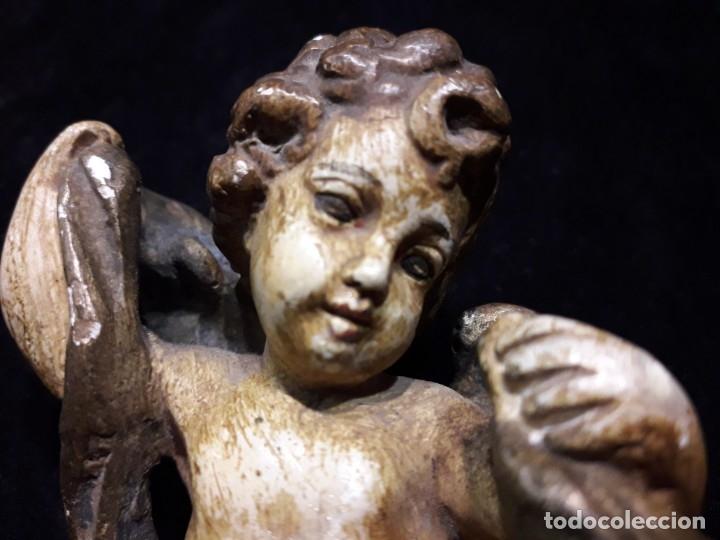 Antigüedades: Antiguo angelito de principios XX en escayola - Foto 6 - 138950882