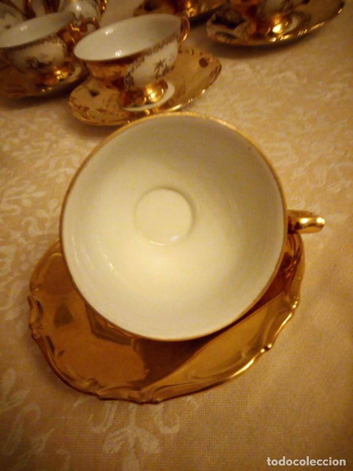 Antigüedades: Precioso juego de té de porcelana porcelana b.c.g.warenhaus ardei bavaria.decorado con oro. - Foto 5 - 139904502