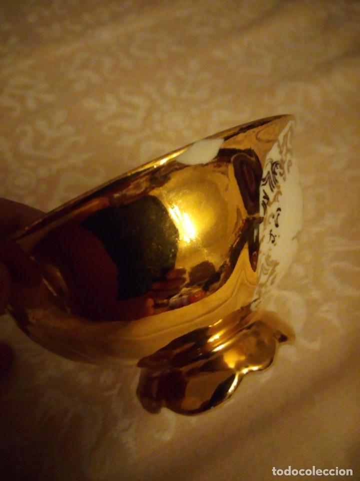 Antigüedades: Precioso juego de té de porcelana porcelana b.c.g.warenhaus ardei bavaria.decorado con oro. - Foto 11 - 139904502