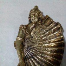 Antigüedades: DESPOJADOR BANDEJA DE BRONCE ABANICO. Lote 139907142