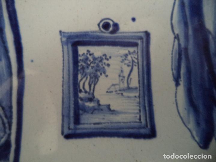 Antigüedades: Raro Prato em Faiança de Delft - serie Meses Ano - Séc XVIII - Foto 3 - 139909258