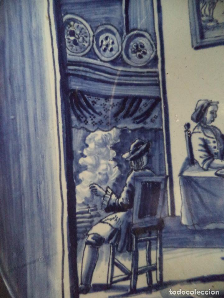 Antigüedades: Raro Prato em Faiança de Delft - serie Meses Ano - Séc XVIII - Foto 4 - 139909258