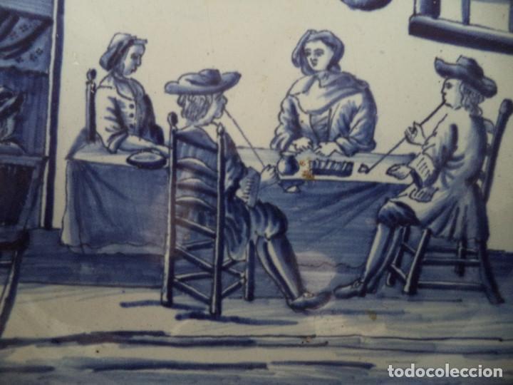 Antigüedades: Raro Prato em Faiança de Delft - serie Meses Ano - Séc XVIII - Foto 5 - 139909258