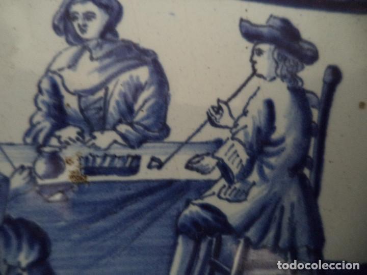 Antigüedades: Raro Prato em Faiança de Delft - serie Meses Ano - Séc XVIII - Foto 6 - 139909258
