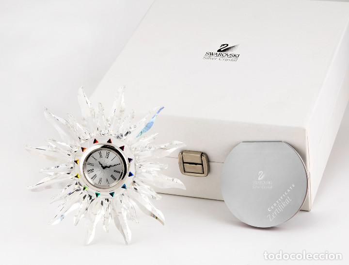 Antigüedades: Swarovski con Diseño de Reloj Sol con Los Colores del Arco Iris - Foto 7 - 139931350