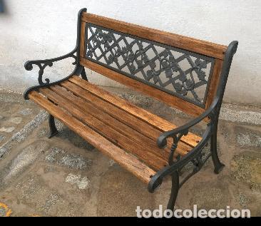 BANCO DE MADERA Y FORJA (Antigüedades - Varios)