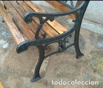 Antigüedades: Banco de madera y forja - Foto 2 - 139933562