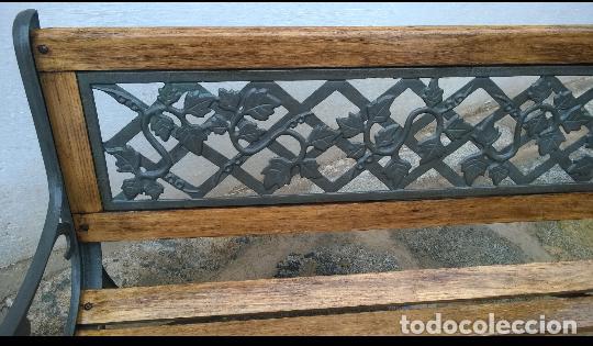 Antigüedades: Banco de madera y forja - Foto 3 - 139933562