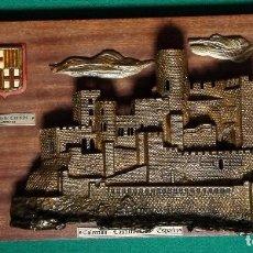 Antigüedades: COLECCION CASTILLOS DE ESPANA. BRONCE MADERA.. Lote 139954238