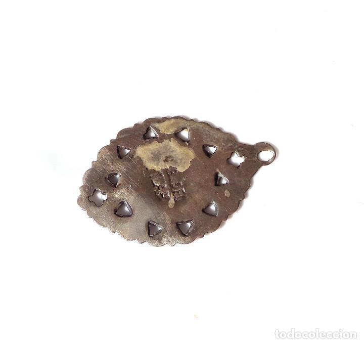 Antigüedades: MEDALLA DE PLATA NUESTRA SEÑORA DEL PILAR.- 3,2 CM ALTO - Foto 4 - 139961102