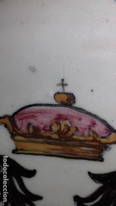 Antigüedades: PLATO DE TALAVERA - ÁGUILA BICÉFALA - ÓRDENES MONÁSTICAS ESCUDO CARMELITAS - SELLO-DEDICADO-FIRMADO - Foto 6 - 139964598