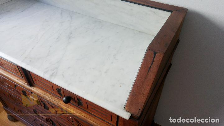 Antigüedades: Cómoda antigua con mármol - Foto 4 - 139968230