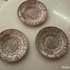 Antigüedades: 3 PLATO CENICERO DE METAL. BRANDY INSUPERABLE 1835 GONZALEZ BYASS JEREZ. Lote 139969310