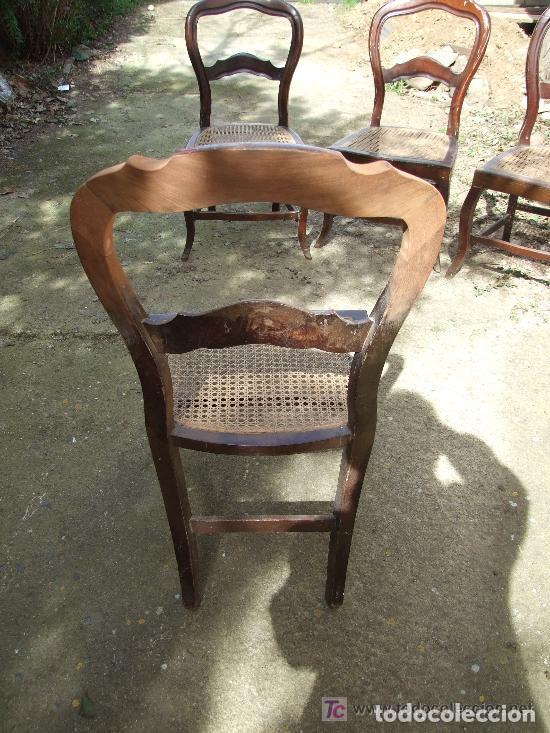 Antigüedades: SILLA CAOBA, 6 SILLAS ISABELINAS DE CAOBA PARA RESTAURAR - Foto 6 - 139969790