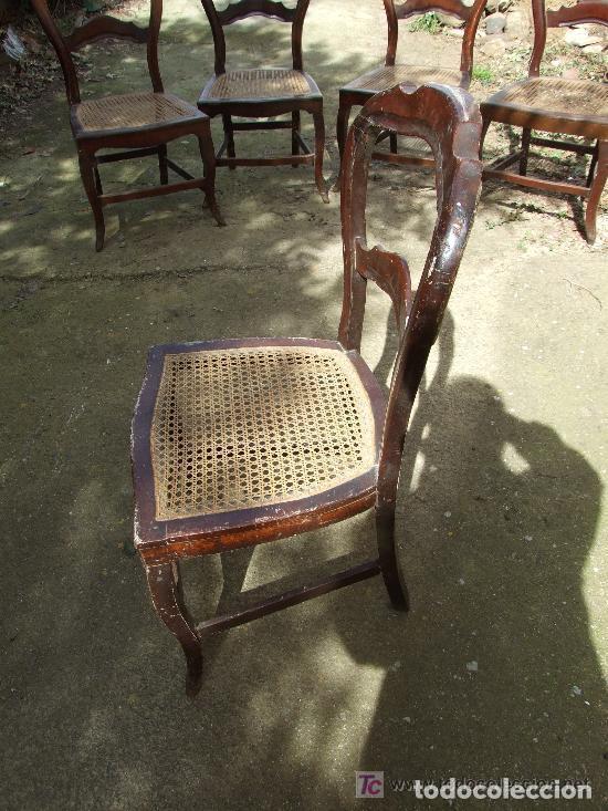 Antigüedades: SILLA CAOBA, 6 SILLAS ISABELINAS DE CAOBA PARA RESTAURAR - Foto 9 - 139969790