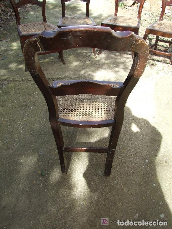 Antigüedades: SILLA CAOBA, 6 SILLAS ISABELINAS DE CAOBA PARA RESTAURAR - Foto 11 - 139969790