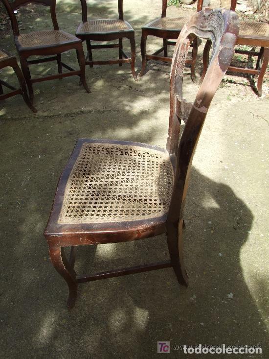 Antigüedades: SILLA CAOBA, 6 SILLAS ISABELINAS DE CAOBA PARA RESTAURAR - Foto 12 - 139969790
