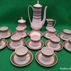 Antigüedades - JUEGO DE CAFE O TE SANTA CLARA MADE IN SPAIN VIGO - 139973134