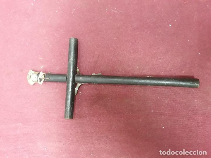Antigüedades: CRUCIFIJO... CRUZ CON CRISTO...XIX - Foto 5 - 139973382