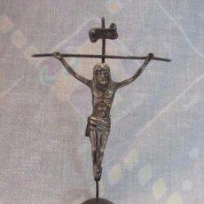 Antigüedades: BENDITERA DE CRUCIFIJO DE PLATA. Lote 140011298