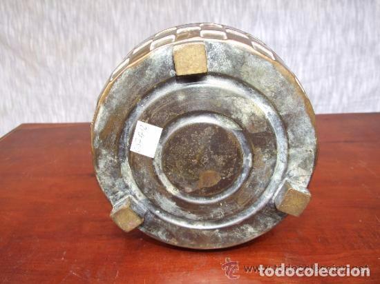 Antigüedades: JARRON, CENTRO MODERNISTA EN BRONCE - Foto 6 - 140018130