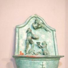 Antigüedades: FUENTE DE TERRACOTA - FIRMADA Y FECHADA. Lote 140024134