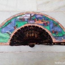Antigüedades: ANTIGUO ABANICO ORIENTAL `` MIL CARAS ´´ SIGLO XIX. Lote 140025354