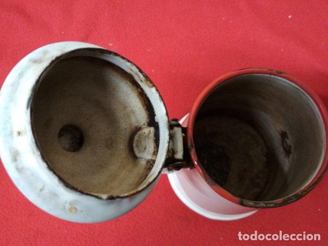Antigüedades: ANTIGUA CAFETERA ESMALTADA - Foto 4 - 140035958