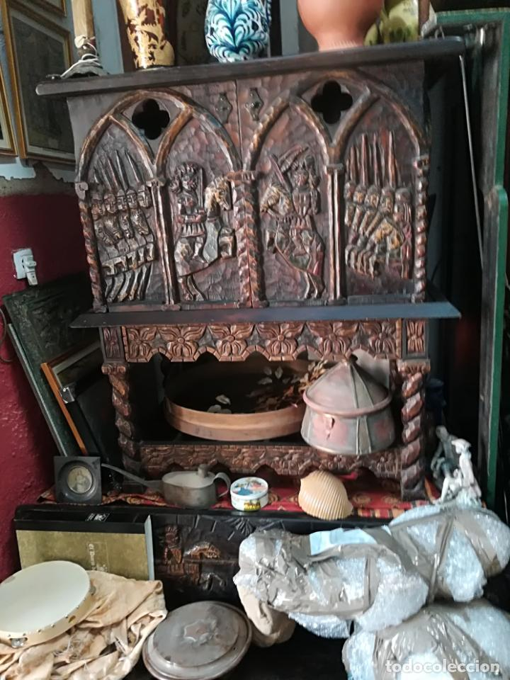 ANTIGUO MUEBLE BARGUEÑO (Antigüedades - Muebles Antiguos - Bargueños Antiguos)