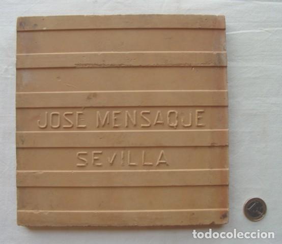 Antigüedades: 1 AZULEJO-MENSAQUE SEVILLA- SIGLO XIX- 1ª NUMERACIÓN SANTIAGO DE LARIBERA-Nº 3-5-6-7-8-9-10-24-33-52 - Foto 2 - 140048038