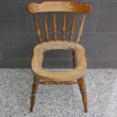 Antigüedades: SILLA EN MADERA MACIZA DE ROBLE.RESTAURAR.. Lote 140050098