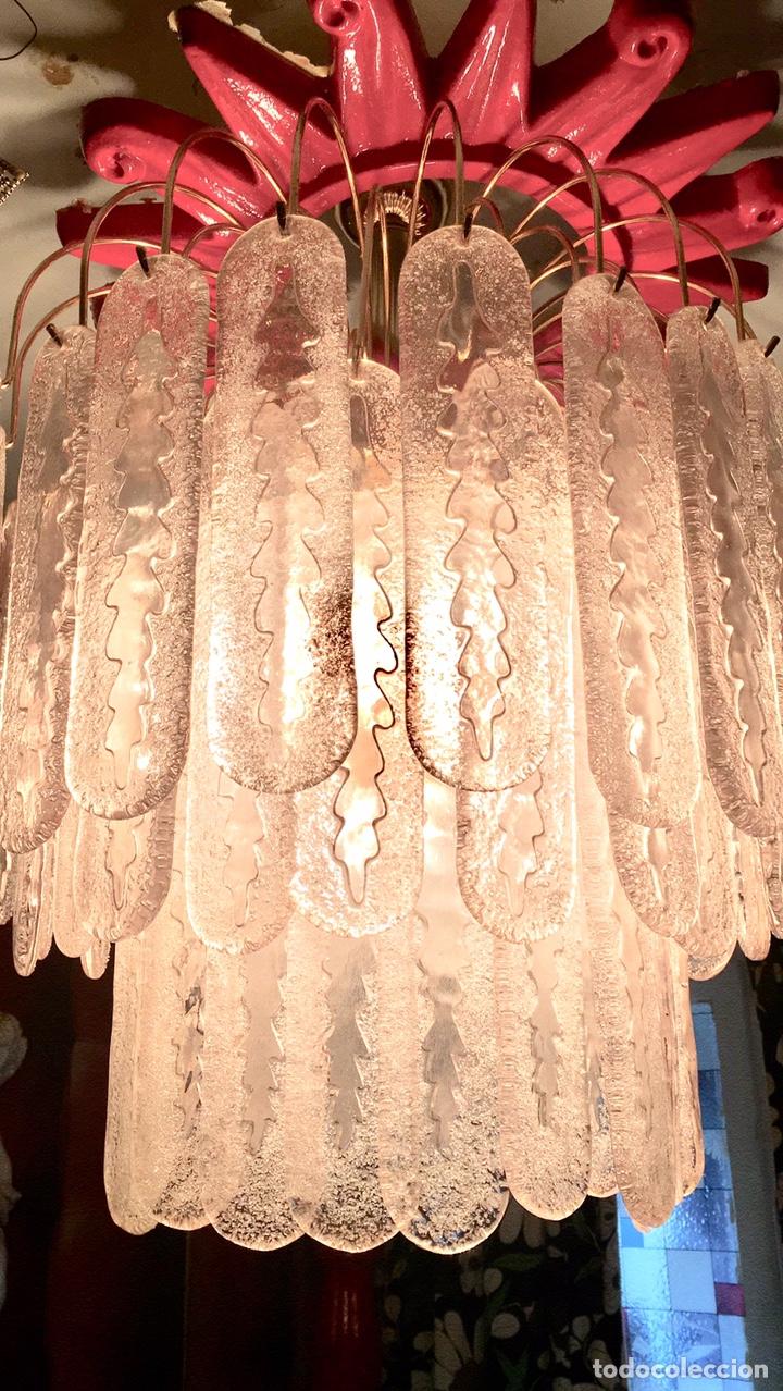 Antigüedades: LAMPARA TECHO (CHANDELIER MURANO MAZZEGA)VENINI LAMP - Foto 7 - 27938676