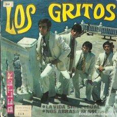 Discos de vinilo: LOS GRITOS. SINGLE. SELLO BELTER. EDITADO EN ESPAÑA. AÑO 1968. Lote 140093446