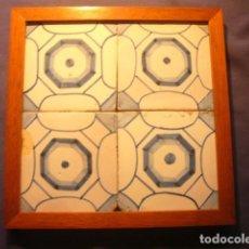 Antigüedades: CUADRO DE AZULEJOS. SIGLO XIX.. Lote 140120126