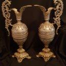 Antigüedades: JARRONES DE BRONCE. Lote 140129573